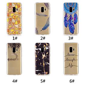 voordelige Galaxy S7 Edge Hoesjes / covers-hoesje Voor Samsung Galaxy S9 / S9 Plus / S8 Plus Patroon Achterkant Voedsel / Woord / tekst / Veren Zacht TPU