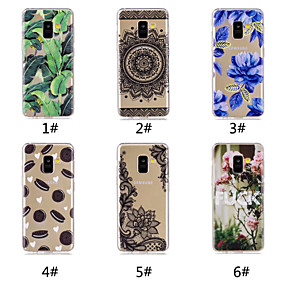 voordelige Galaxy A5(2016) Hoesjes / covers-hoesje Voor Samsung Galaxy A6 (2018) / A6+ (2018) / Galaxy A7(2018) Patroon Achterkant Voedsel / Woord / tekst / Lace Printing Zacht TPU