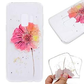 voordelige Galaxy S7 Hoesjes / covers-hoesje Voor Samsung Galaxy S9 / S9 Plus / S8 Plus Transparant / Patroon Achterkant Vlinder / Bloem / Marmer Zacht TPU