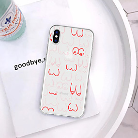olcso iPhone tokok-Case Kompatibilitás Apple iPhone XR / iPhone XS Max Minta Fekete tok Szexi lány / Rajzfilm Puha TPU mert iPhone XS / iPhone XR / iPhone XS Max