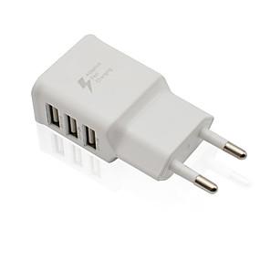 billige Normale opladere-Lille og mobil oplader / Trådløs Oplader USB oplader EU Stik Normal 3 USB-porte 2 A DC 5V for