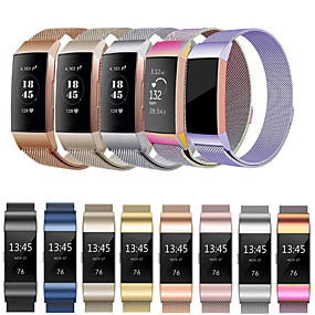povoljno Remenje za Fitbit satove-Pogledajte Band za Fitbit Charge 3 Fitbit Preklopna metalna narukvica Nehrđajući čelik Traka za ruku