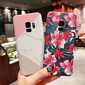 olcso Galaxy S tokok-Case Kompatibilitás Samsung Galaxy Galaxy S10 Plus / Galaxy S10 E Ultra-vékeny / Minta Fekete tok Virág / Márvány Kemény PC mert S9 / S9 Plus / S8 Plus
