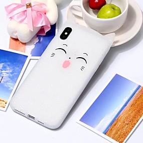 halpa iPhone 8 kotelot-Etui Käyttötarkoitus Apple iPhone X / iPhone XS Max Kuvio Takakuori 3D sarjakuva Pehmeä Silikoni varten iPhone XS / iPhone XR / iPhone XS Max