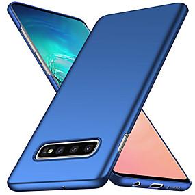 halpa Galaxy S -sarjan kotelot / kuoret-Etui Käyttötarkoitus Samsung Galaxy Galaxy S10 / Galaxy S10 Plus Himmeä Takakuori Yhtenäinen Pehmeä PC varten S9 / S9 Plus / S8 Plus
