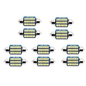 billige Nummerpladelys-10pcs 31mm / 36mm Bil Elpærer 1 W SMD 3014 60-100 lm 21/30 LED Nummerpladelys / Indvendige Lights Til Universel