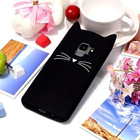 halpa Galaxy S -sarjan kotelot / kuoret-Etui Käyttötarkoitus Samsung Galaxy S9 Plus / S9 / S8 Plus Ultraohut / Kuvio Takakuori Kissa / 3D sarjakuva Pehmeä TPU varten S9 / S9 Plus