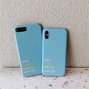 cheap Cool & Fashion Cases for iPhone-Case For Apple iPhone XR / iPhone XS Max Frosted Back Cover Word / Phrase Hard PC for iPhone XS / iPhone XR / iPhone XS Max