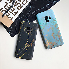 voordelige Galaxy S7 Edge Hoesjes / covers-hoesje Voor Samsung Galaxy S9 / S9 Plus / S8 Plus Ultradun / Patroon Achterkant Marmer Hard PC
