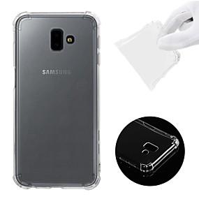 voordelige Galaxy J5(2017) Hoesjes / covers-hoesje Voor Samsung Galaxy J7 (2017) / J7 (2016) / J7 Schokbestendig / Transparant Achterkant Effen Zacht TPU