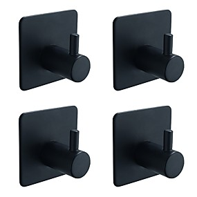 economico Accessori per il bagno-Appendi-accappatoio Auto-adesivo Moderno / Antico Acciaio inossidabile 4pcs - Bagno anello asciugamano Montaggio su parete