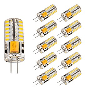 abordables Luces LED de Doble Pin-10pcs 3 W Luces LED de Doble Pin 220 lm G4 T 48 Cuentas LED SMD 3014 Encantador Blanco Cálido Blanco Fresco 12 V