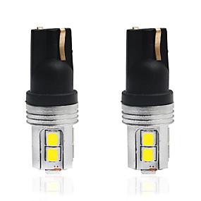 billiga Bakljus-2pcs T10 Bilar Glödlampor 5 W SMD 2835 350 lm 10 LED Nummerplåtsbelysning / Baklykta / innerbelysningen Till Universell Alla år