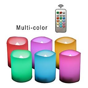 billige Originale LED-lamper-6 stk led lys rgb + varm knap batteri drevet nem bærbar sikkerhed atmosfære natlamper