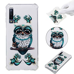 voordelige Galaxy A3(2016) Hoesjes / covers-hoesje Voor Samsung Galaxy A6 (2018) / A6+ (2018) / Galaxy A7(2018) Schokbestendig / Transparant / Patroon Achterkant Uil Zacht TPU