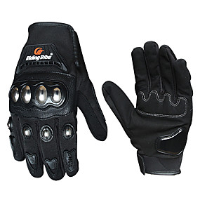 billige Til Bilen & Motorcyklen-Motorcykel handsker Fuld Finger Polyutrethane / Bomuld / Nylon M / L / XL Sort