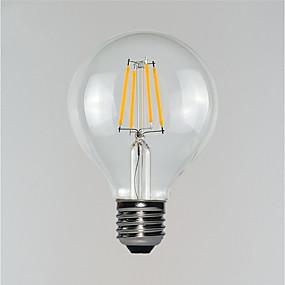 Χαμηλού Κόστους Λαμπτήρες LED με νήμα πυράκτωσης-1pc 3 W LED Λάμπες Πυράκτωσης 190-290 lm E26 / E27 G80 4 LED χάντρες