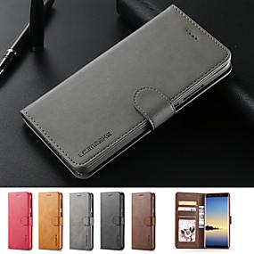 halpa Galaxy S10 kotelot / kuoret-Etui Käyttötarkoitus Samsung Galaxy Galaxy S10 / Galaxy S10 Plus Korttikotelo / Tuella / Magneetti Suojakuori Yhtenäinen Kova PU-nahka varten S9 / S9 Plus / S8 Plus