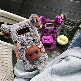 halpa Galaxy S -sarjan kotelot / kuoret-Etui Käyttötarkoitus Samsung Galaxy Galaxy S10 / Galaxy S10 Plus DIY Takakuori Eläin Pehmeä tekstiili varten Galaxy S10 / Galaxy S10 Plus / Galaxy S10 E