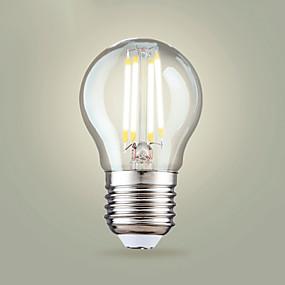 Χαμηλού Κόστους Λαμπτήρες LED με νήμα πυράκτωσης-4pcs 4 W LED Λάμπες Πυράκτωσης 400 lm E26 / E27 Α65 4 LED χάντρες COB Θερμό Λευκό Ψυχρό Λευκό 200-240 V
