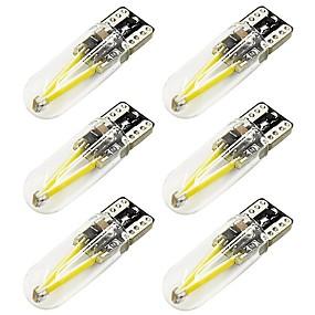 billige Nummerpladelys-6stk T10 Bil Elpærer 2 W COB 170 lm 2 LED Nummerpladelys / Baglygte / Side Marker Lights Til Universel Alle år