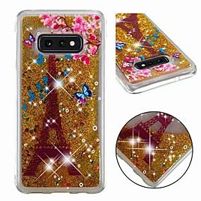 voordelige Galaxy S7 Hoesjes / covers-hoesje Voor Samsung Galaxy S9 / S9 Plus / S8 Plus Schokbestendig / Stromende vloeistof / Transparant Achterkant Glitterglans Zacht TPU