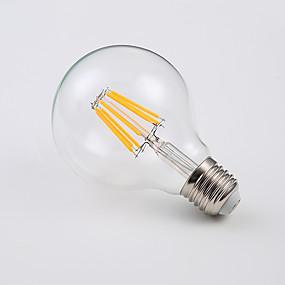 Χαμηλού Κόστους Λαμπτήρες LED με νήμα πυράκτωσης-8w οδήγησε βολβοί σφαίρα 400 lm e26 / e27 a65 8 σφαιρίδια οδήγησε σκουλαρίκια κρύο λευκό ζεστό λευκό 220-240 v 4pcs