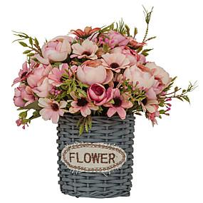 baratos Casa & Cozinha-Flores artificiais 1 Ramo Solteiro (L150 cm x C200 cm) Estilo simples Modern Plantas suculentas Flor de Mesa