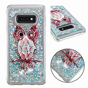 voordelige Galaxy S7 Hoesjes / covers-hoesje Voor Samsung Galaxy S9 / S9 Plus / S8 Plus Schokbestendig / Stromende vloeistof / Transparant Achterkant dier / Glitterglans Zacht TPU