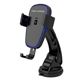 voordelige Autoladers-draadloze oplader voor op de auto, automatische opspanning qi snellaadstation voor auto, voorruit dashboard luchtrooster telefoonhouder