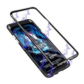 olcso Galaxy S tokok-Case Kompatibilitás Samsung Galaxy Galaxy S10 / Galaxy S10 Plus Áttetsző Fekete tok Átlátszó Kemény Hőkezelt üveg mert S9 / S9 Plus / S8 Plus