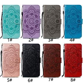 halpa Galaxy S9 Plus kotelot / kuoret-Etui Käyttötarkoitus Samsung Galaxy Galaxy S10 Plus / Galaxy S10 E Korttikotelo / Tuella / Flip Suojakuori Kukka Kova PU-nahka varten S9 / S9 Plus / Galaxy S10