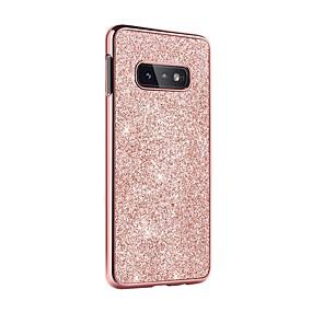 halpa Galaxy S -sarjan kotelot / kuoret-BENTOBEN Etui Käyttötarkoitus Samsung Galaxy Galaxy S10 E Iskunkestävä / Pinnoitus / Kimmeltävä Takakuori Yhtenäinen / Kimmeltävä Kova PU-nahka / TPU / Hiilikuitu varten Galaxy S10 E