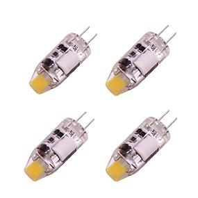 abordables Luces LED de Doble Pin-4pcs 1 W Luces LED de Doble Pin 160 lm G4 T 1 Cuentas LED COB Blanco Cálido Blanco 12 V