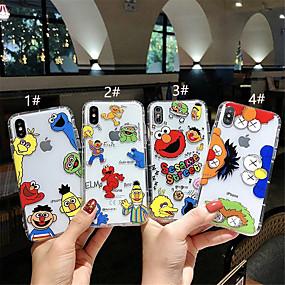 levne Pouzdra iPhone XS-pouzdro pro Apple iphone xr / iphone xs max vzor / transparentní zadní kryt kreslený soft tpu pro iPhone x xs 8 8 plus 7 7 plus 6 6s 6plus 6s plus