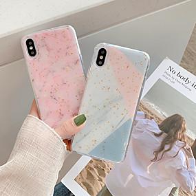 olcso iPhone tokok-CISIC Case Kompatibilitás Apple iPhone X / iPhone XR Ütésálló Fekete tok Márvány Puha TPU / PC mert iPhone XS / iPhone XR / iPhone XS Max