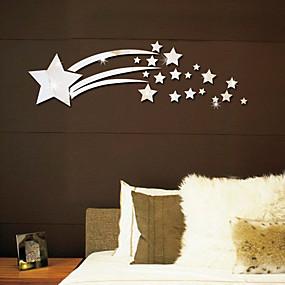 Недорогие Дом и кухня-светящиеся звезды 3d зеркальные настенные наклейки - зеркальные настенные наклейки формы кабинет / офис / столовая / кухня