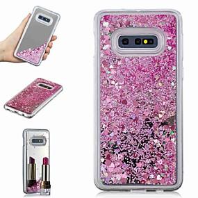 voordelige Galaxy S7 Hoesjes / covers-hoesje Voor Samsung Galaxy S9 / S9 Plus / S8 Plus Schokbestendig / Stromende vloeistof / Spiegel Achterkant Glitterglans / Kleurgradatie Hard TPU