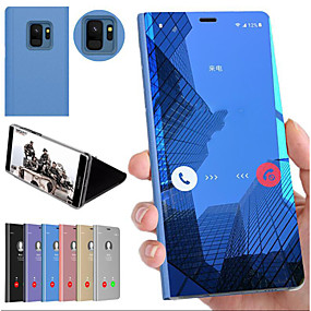 halpa Galaxy S -sarjan kotelot / kuoret-Etui Käyttötarkoitus Samsung Galaxy S9 / Galaxy S10 Plus Iskunkestävä / Tuella / Peili Takakuori Yhtenäinen Kova PC varten S9 / S9 Plus / S8 Plus