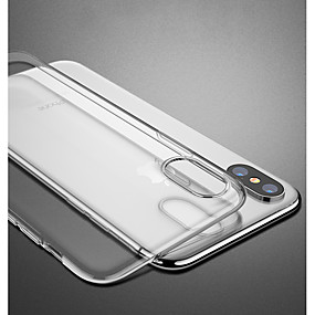 abordables Coques d'iPhone-CISIC Coque Pour Apple iPhone XS / iPhone XS Max Antichoc / Transparente Coque Couleur Pleine / Transparente Flexible TPU pour iPhone XS / iPhone XR / iPhone XS Max