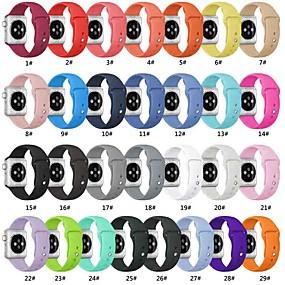 economico Accessori per Apple Watch-Cinturino per orologio  per Apple Watch Series 4/3/2/1 Apple Cinturino sportivo Silicone Custodia con cinturino a strappo
