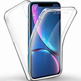 levne iPhone pouzdra-pouzdro pro Apple iphone xs max / iphone x transparentní / matné celotělové pouzdro průhledné tvrdé pc / tpu pro iPhone 6 / iphone 6 plus / iphone 6s / 6splus / 7/8 / 7plus / 8plus / xs / xr