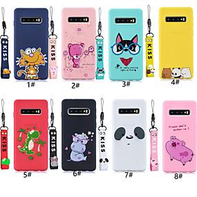 ieftine Carcase / Huse Galaxy S Series-Maska Pentru Samsung Galaxy Galaxy S10 Plus / Galaxy S10 E Model Capac Spate Animal / Desene Animate Moale TPU pentru S9 / S9 Plus / S8 Plus