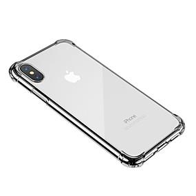 olcso iPhone tokok-Case Kompatibilitás Apple iPhone X / iPhone 8 / iPhone 8 Plus Átlátszó Fekete tok Átlátszó Puha TPU mert iPhone XS / iPhone XR / iPhone XS Max