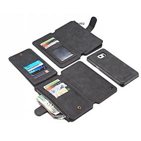 voordelige Galaxy S6 Edge Plus Hoesjes / covers-hoesje Voor Apple S9 / S9 Plus / S8 Plus Portemonnee / Kaarthouder / Schokbestendig Achterkant Effen Hard aitoa nahkaa