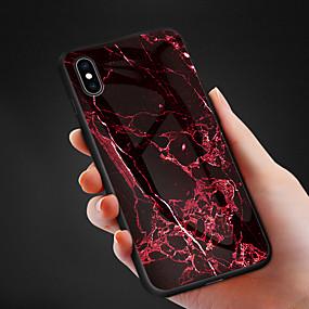 abordables Coques d'iPhone-Coque Pour Apple iPhone XR / iPhone XS Max Motif Coque Couleur Pleine Dur Verre Trempé pour iPhone XS / iPhone XR / iPhone XS Max