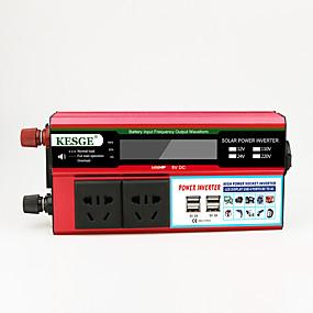 economico Inverter di alimentazione del veicolo-kesge&Reg; ddb 1000w auto power inverter dc12 / 24-ac220v / 110v con lcd / 4usb / dual inverter di potenza presa universale