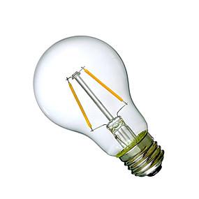 Χαμηλού Κόστους Λαμπτήρες LED με νήμα πυράκτωσης-1pc 2 W LED Λάμπες Πυράκτωσης 180 lm E26 / E27 A60(A19) 2 LED χάντρες COB Διακοσμητικό Θερμό Λευκό 220-240 V