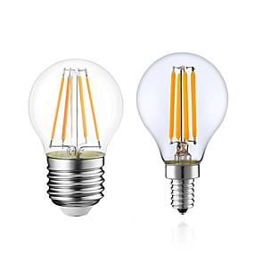 رخيصةأون مصابيح خيط ليد-1PC 4 W مصابيحLED 380 lm E14 E12 E26 / E27 G45 4 الخرز LED COB تخفيت أبيض دافئ 220-240 V 110-130 V / قطعة / بنفايات / LVD