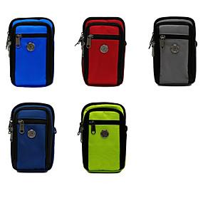 ราคาถูก เคสสำหรับ iPhone-6.3 นิ้วกรณีสำหรับผู้ถือบัตรสากลกระเป๋าสีทึบไนลอนนุ่ม / โพลีเอสเตอร์